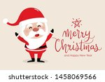 merry christmas and happy new... | Shutterstock .eps vector #1458069566
