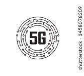 5g Logo Network Speed Circuit...