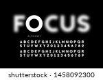 focus font design  focused and... | Shutterstock .eps vector #1458092300