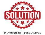 solution rubber stamp. solution ...   Shutterstock .eps vector #1458093989
