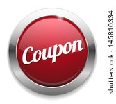 big red coupon button | Shutterstock .eps vector #145810334