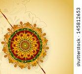 indian festival raksha bandhan... | Shutterstock .eps vector #145812653