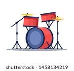 Bid Drum Set Red Color Crash...