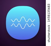 fluid wave app icon. flowing...