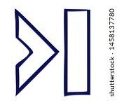 last symbol. hand drawn icon... | Shutterstock .eps vector #1458137780