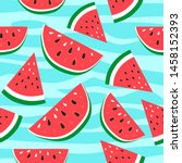 Watermelon Background With...