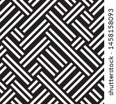 geometric pattern with black... | Shutterstock .eps vector #1458158093