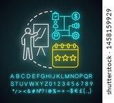 senior level neon light icon.... | Shutterstock .eps vector #1458159929