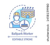 Ballpark Worker Concept Icon....