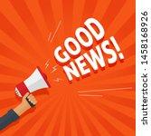good news information alert... | Shutterstock .eps vector #1458168926