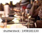glasses of champagne on the... | Shutterstock . vector #1458181133