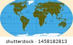 vector map of the world. oceans ... | Shutterstock .eps vector #1458182813