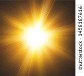 shining golden stars isolated...   Shutterstock .eps vector #1458187616