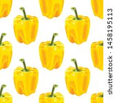 seamless pattern with bell... | Shutterstock .eps vector #1458195113