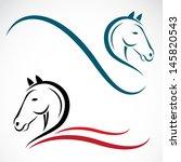 Stock vector vector head of horse 145820543