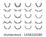 set of different black and... | Shutterstock .eps vector #1458220280