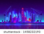 night city building with... | Shutterstock .eps vector #1458232193