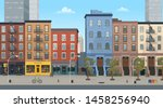 panorama city building houses... | Shutterstock .eps vector #1458256940