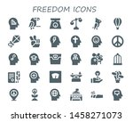 freedom icon set. 30 filled... | Shutterstock .eps vector #1458271073