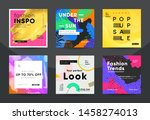 trendy fashion sale banners for ... | Shutterstock .eps vector #1458274013