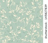 seamless floral pattern on... | Shutterstock .eps vector #145827839