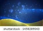 vector bright glowing country... | Shutterstock .eps vector #1458289043