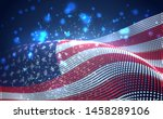 vector bright glowing country... | Shutterstock .eps vector #1458289106