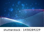 vector bright glowing country... | Shutterstock .eps vector #1458289229