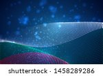 vector bright glowing country... | Shutterstock .eps vector #1458289286