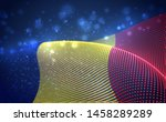 vector bright glowing country... | Shutterstock .eps vector #1458289289