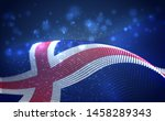 vector bright glowing country... | Shutterstock .eps vector #1458289343