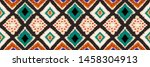 ikat geometric folklore... | Shutterstock .eps vector #1458304913