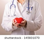 female doctor with stethoscope... | Shutterstock . vector #145831070