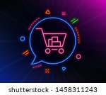 shopping cart line icon. neon...   Shutterstock .eps vector #1458311243
