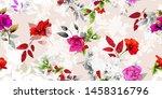 wide vintage seamless pattern.... | Shutterstock .eps vector #1458316796