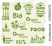 set of organic products icons.... | Shutterstock .eps vector #145832078