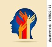 human head thinking a new idea   Shutterstock .eps vector #145833416