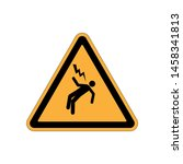 high voltage warning icon.... | Shutterstock .eps vector #1458341813