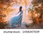 Art Goddess Girl. Blue Vintage...