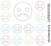 emoji sad face multi color icon....
