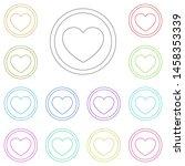 heart multi color icon. simple...