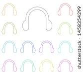 headphones symbol sign multi...