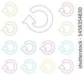 refresh  arrow multi color icon.... | Shutterstock . vector #1458354830