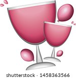 balloons and a glass of wine  a ...   Shutterstock .eps vector #1458363566