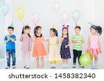 pretty asian children group... | Shutterstock . vector #1458382340