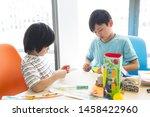 elementary school student... | Shutterstock . vector #1458422960