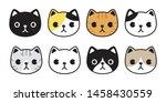 cat vector icon kitten breed... | Shutterstock .eps vector #1458430559