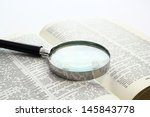 Magnification Glass Over A...