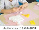 elementary school student doing ... | Shutterstock . vector #1458441863