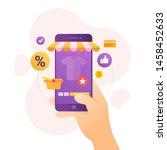 design concept of online... | Shutterstock .eps vector #1458452633